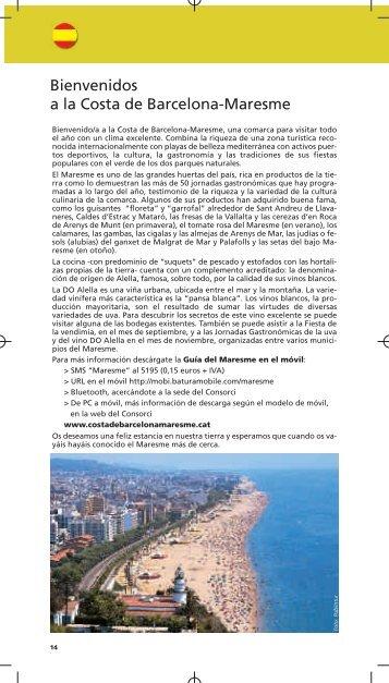Bienvenidos a la Costa de Barcelona-Maresme