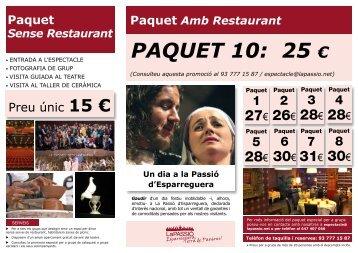 PAQUET 10: 25 € - La Passió d'Esparreguera