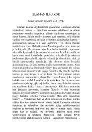 Elämän ilmakoe, 27.11.1927. - Pekka Ervast