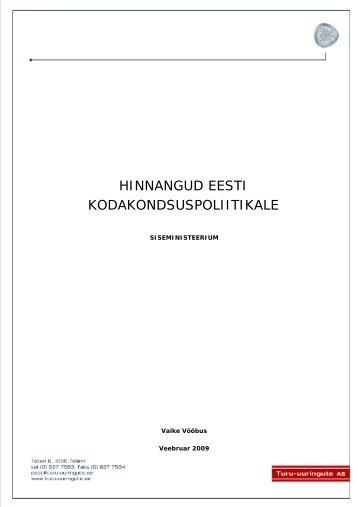 Hinnangud Eesti kodakondsuspoliitikale (2008)