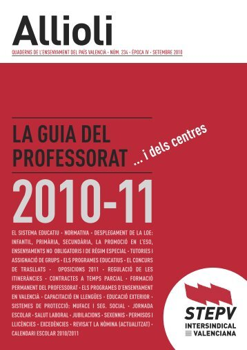 Guia professorat 2010/11 (pdf) - Intersindical Valenciana