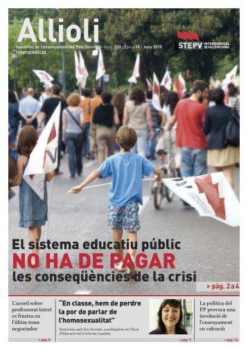 El sistema educatiu públic les conseqüències de la crisi
