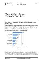 Liike-elämän palvelujen tilinpäätöstilasto 2009 - Tilastokeskus