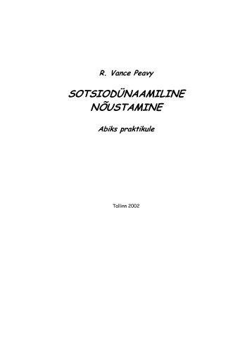 Peavy, R. V. Sotsiodünaamiline nõustamine, 2002 (pdf) - Rajaleidja
