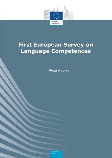First European Survey on Language Competences