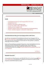 REHADAT-Elan Newsletter 02 / 2010