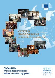 Citizen Engagement in the Field of Mobility - CIVITAS