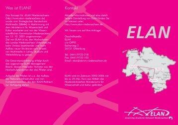 Was ist ELAN? Kontakt - ELAN-Niedersachsen