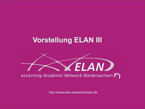 Vorstellung ELAN III - Stud.IP