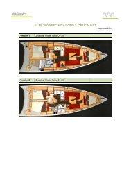 ELAN 350 SPECIFICATIONS & OPTION LIST - Elan Yachts