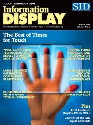 Information Display Magazine March 2010 - Walker Mobile, LLC