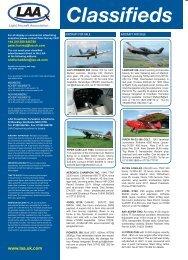 Classifieds - the Light Aircraft Association