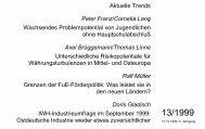 Aktuelle Trends Peter Franz/Cornelia Lang Wachsendes ...