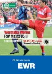 07.11.2009 FSV Mainz 05 II - Wormatia Worms