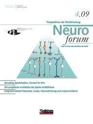 Neuroforum 4/09 - Neurowissenschaftliche Gesellschaft eV - MDC