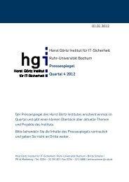 Quartal 4 2012 - Horst Görtz Institut für IT-Sicherheit - Ruhr ...