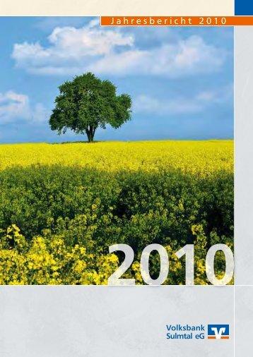 Jahresbericht 2010 - Volksbank Sulmtal eG