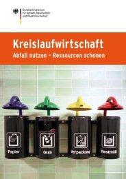 Kreislaufwirtschaft Abfall nutzen - Ressourcen schonen - BMU