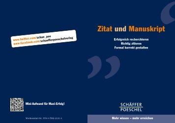 Zitat und Manuskript - Schäffer-Poeschel Verlag GmbH