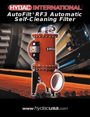 AutoFilt® RF3 Automatic Self-Cleaning Filter - Hydac USA