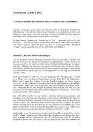 Noticias aus La Paz 5-2008 - Bethlehem Mission Immensee