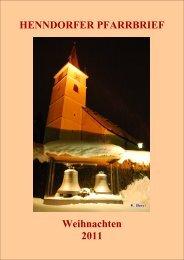 HENNDORFER PFARRBRIEF Weihnachten 2011 - Pfarre Henndorf ...