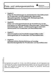 03 Preis- u Leistungsverzeichnis 15.02.2013 - Sparkasse Kulmbach ...