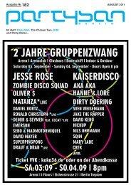 Im Heft: Dana Ruh, The Chosen Two, KIKI und Party ... - Partysan