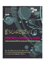 Praktiken_Wissen_Kunst Programm Abstracts CVs