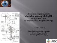 A szemmozgászavarok differenciál diagnosztikája - Dr. Somlai Judit ...