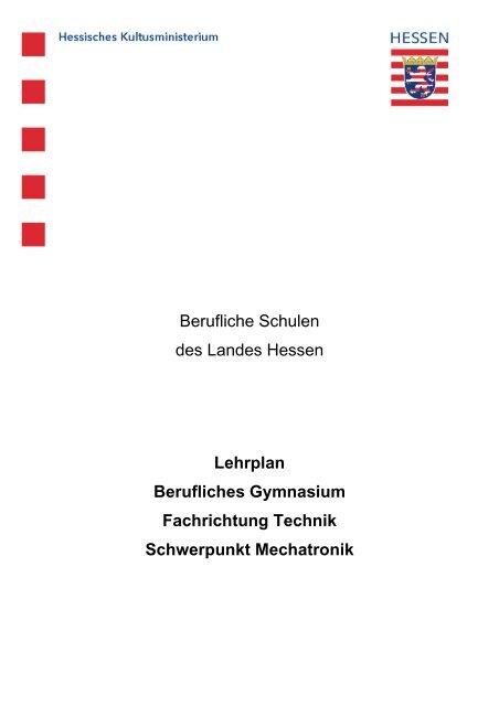 Schwerpunkt Mechatronik - Berufliche Bildung in Hessen