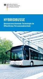 HYBRIDBUSSE - Ressourcenschonende Technologie im ... - BMU