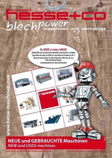 NEuE und GEbrauchtE Maschinen - Hesse + Co