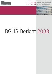 BGHS-Bericht 2008 - Universität Bielefeld