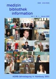 medizin bibliothek information - Agmb