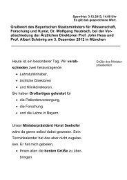 Sperrfrist: - Bayerisches Staatsministerium für Wissenschaft ...