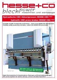 Hydraulische CNC Abkantpressen HESSE CNC eco hydraulic CNC ...