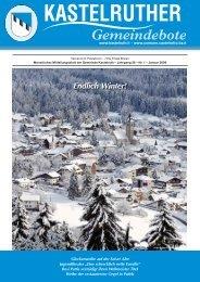Kastelruther Gemeindebote - Ausgabe Januar 2009 (3,55 MB