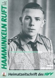 Hamminkeln Ruft, Ausgabe Nr. 48 - Dezember ... - HVV Hamminkeln