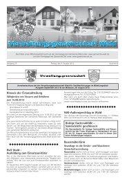 Hinweis der Finanzabteilung HvO Wald ... - Gemeinde WALD