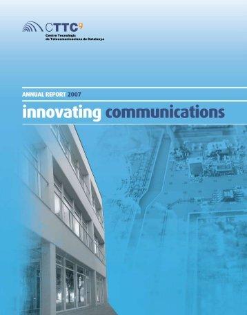 innovating communications - CTTC