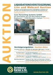 Liquidationsversteigerung / Live and WebCast Auction ...