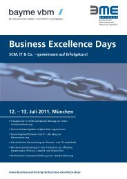 Einladung zu den Business Excellence Days 2011