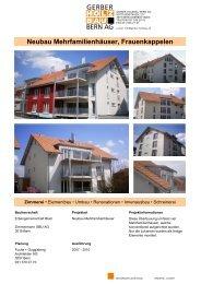 Neubau Mehrfamilienhäuser, Frauenkappelen - Gerber-Holzbau