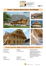 Umbau / Neubau Bauernhaus, Konolfingen - Gerber-Holzbau
