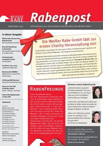 Rabenpost - Weisser Rabe