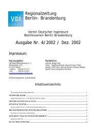 Regionalzeitung Berlin - (VDI) Berlin-Brandenburg
