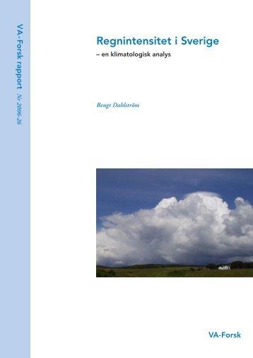 Regnintensitet i Sverige – en klimatologisk analys