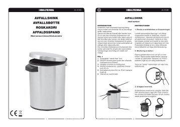 avfallshink avfallsbøtte roskakori affaldsspand - Biltema