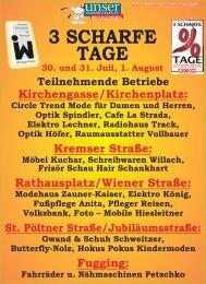 3 SCHARFE TAGE - Wirtschaft Herzogenburg